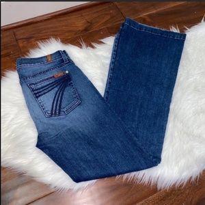 7FAM Dojo Wide Leg Jeans Size 28